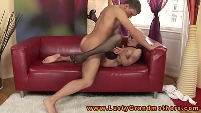 he fucks hard a whore GILF