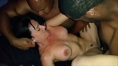 Cuckolding Wife Takes on 2 Black Cocks