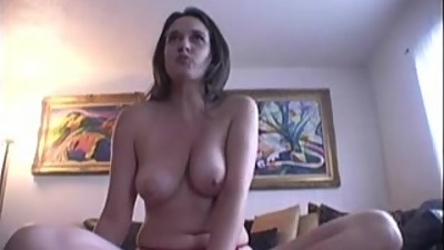Busty brunette Jennifer fingering her..