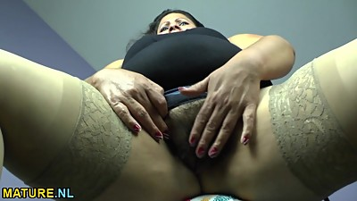 Fat latina mature undressing and..