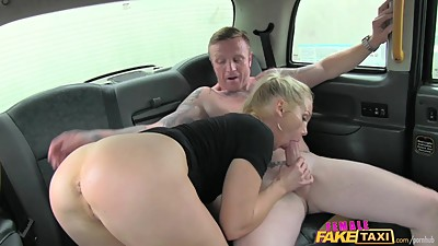 FemaleFakeTaxi Old flame taken on a..