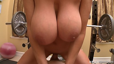 KELLY MADISON - Kelly Works Out With a..