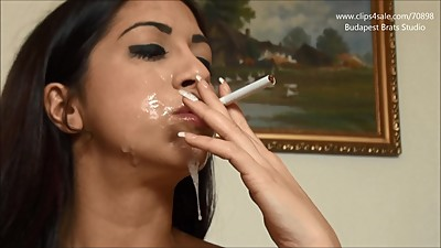 Cum covered smoking