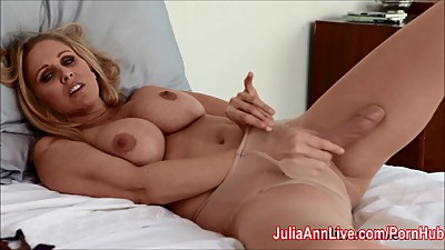 Julia Ann Teases with Pantyhose &..