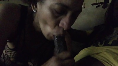 Cougar Loves Sucking My Big Dick