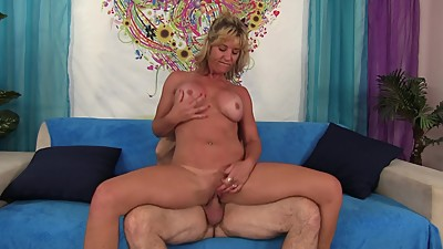 Blonde Cougar Sky Haven is horny and..