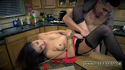Dominates poor guy and milf bondage..