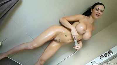 British Big Tits Shower JOI