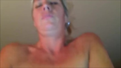 Mature wife cums on husbands cock..
