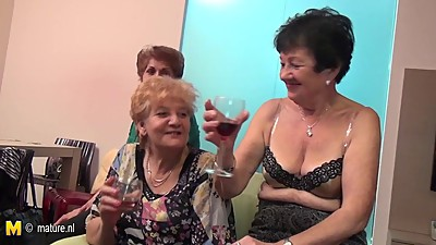 Old and young lesbians perform in a..
