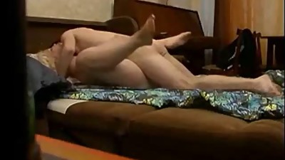 Curvy milf fucked by younger boy on..