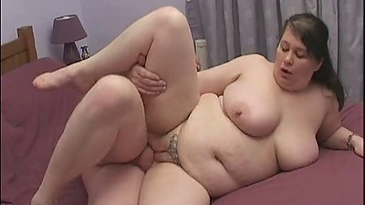 British BBW gets banged on a squeaky..