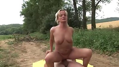 Milf Spread her legs in the forrest