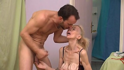 French ugly mature slut Marie-The..
