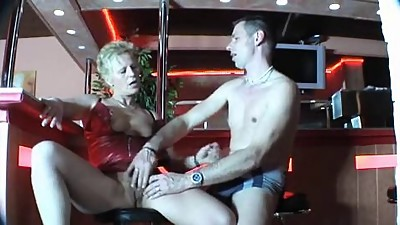 Horny german mature gets fucked in a..
