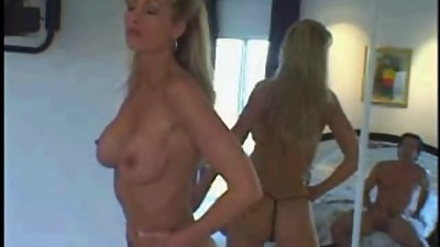 Blonde pro Milf in threesome  DP..