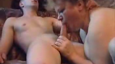 Chubby Mature Gets That Young Cock..