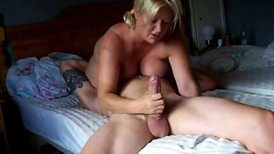chubby milf rides cock