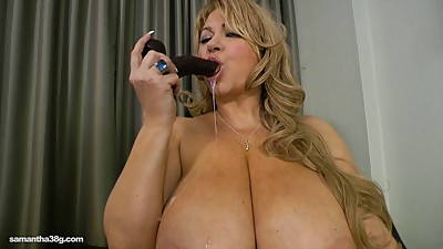 Chubby MILF Slut Fucks Herself With..