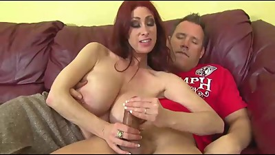 Super MILF giving a handjob
