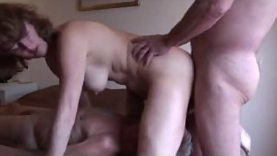 mature Cuckold Husband Eats fucker..
