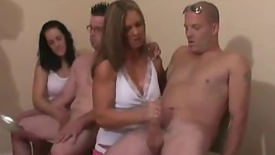 Mrs Wilson and Two Girls Jerking..