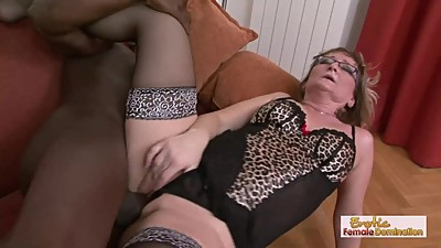 Gilf slut Aja barely fits this huge..