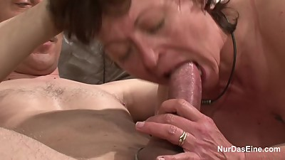 German Mother get fucked Hardcore..