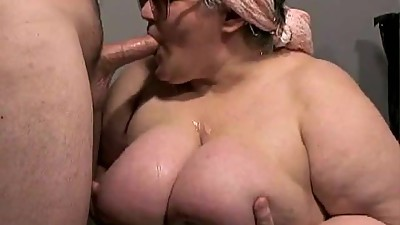 French Mature BBW Wet Blowjob