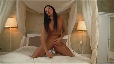 Sexi housewife masturbates, fucks and..