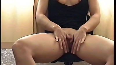 UK London MILF teasing in a sexy black..