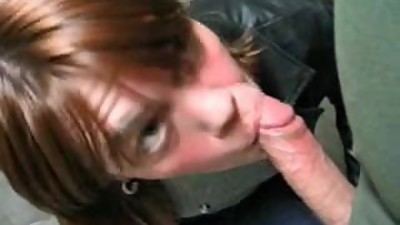 Blowjob and facial in publicwc