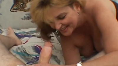 Your busty mother is working my cock
