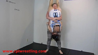 Mature BBW vs Tall Girl - Piledrivers..
