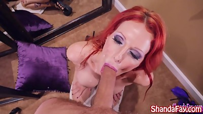 Shanda Fay Sucks Cock for Facial on..