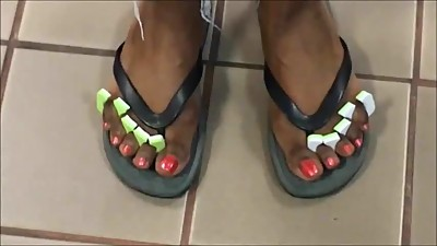 MILF Shawn Orange Toenails