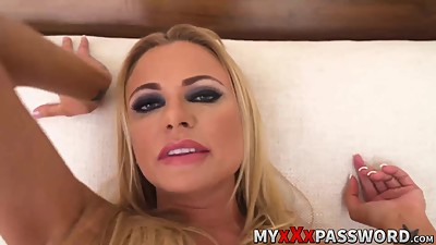 Dirty talker blonde milf gets rough..