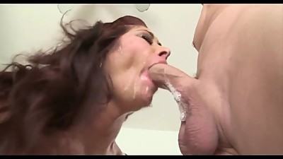 Busty Milf Slut TM Sloppy Blowjob Face..
