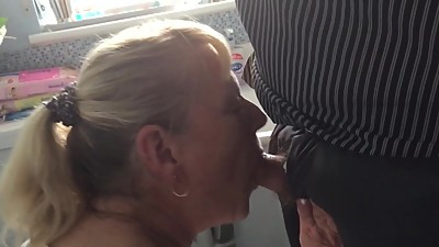 Mature old Granny sucks my cock and..