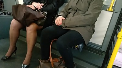 Mature with sexy high heels and..