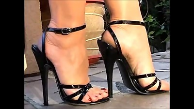 Sexy Feet And Black High Heels