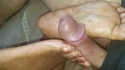 Ebony gf sole rubbing